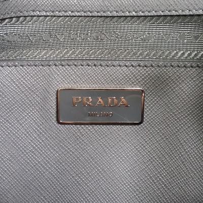 saffiano mini leather bag grey